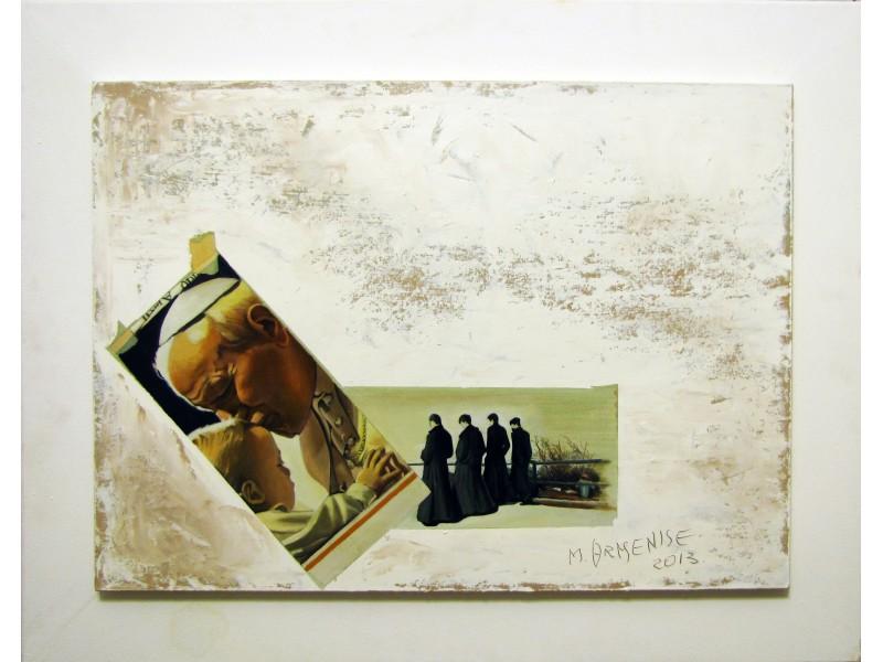 Il Papa Polacco - Quadro Moderno d'autore 82x66